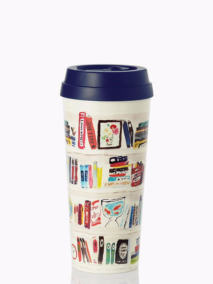 Kate spade book tumbler travel mug