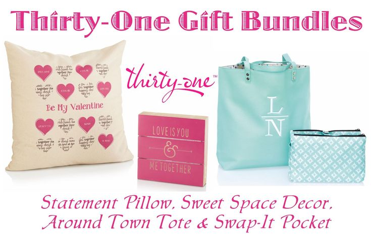 Thirty-One Gifts 2018 has some great gift bundles. Check out the Statement Pillow, Sweet Space Decor, Around Town Tote & Swap-It Pocket at MyThirtyOne.com/PiaDavis or find your consultant in the upper right corner of the website.
