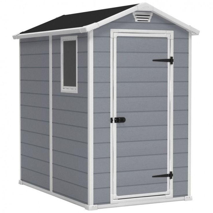 Garden House Shed Storage Outdoor Patio Weather Resistant House Grey Cabin Resin #GardenHouseShed