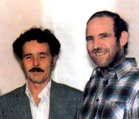 Partners in slime:  Henry Lee Lucas (L) and his boyfriend, Ottis Toole.