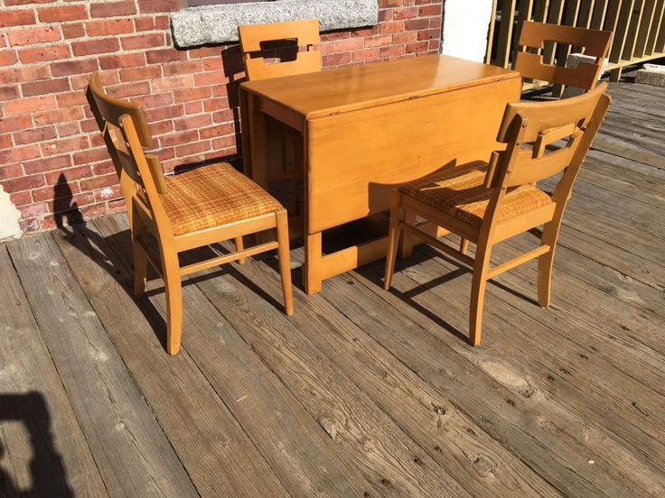 mid century modern dining kitchen room table conant ball designed by russell wright table heywood wakefield chairs modern danish table by daru2026