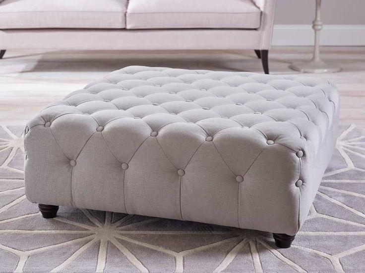 Poppy upholstered footstool