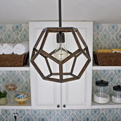 honeycomb pendant light, dodecahedron lighting
