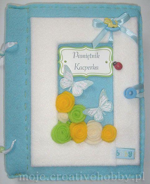 Kto powiedział, że pamiętnik nie może być ozdobiony filcem?