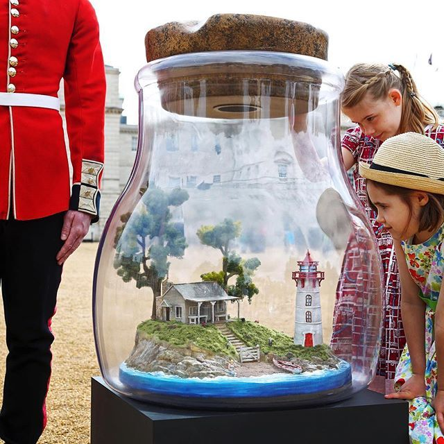 """Today, find """"splendiferous"""" sculptures created from celebrities' dreams as #London officially launches the #BFG Dream Jar Trail. Snap each celebrity jar & tag us with #BFGDreamJars for the chance to win a BFG view from @shardview ✨ #visitlondon"""