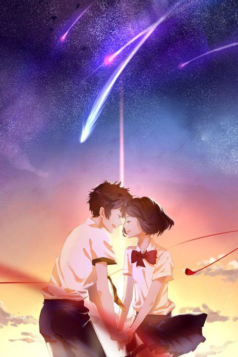 人体参考画师Rella的涂鸦 anime cute couple  your name