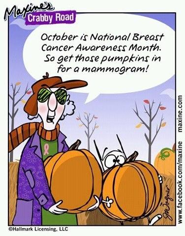 October is #BreastCancerAwarenessMonth
