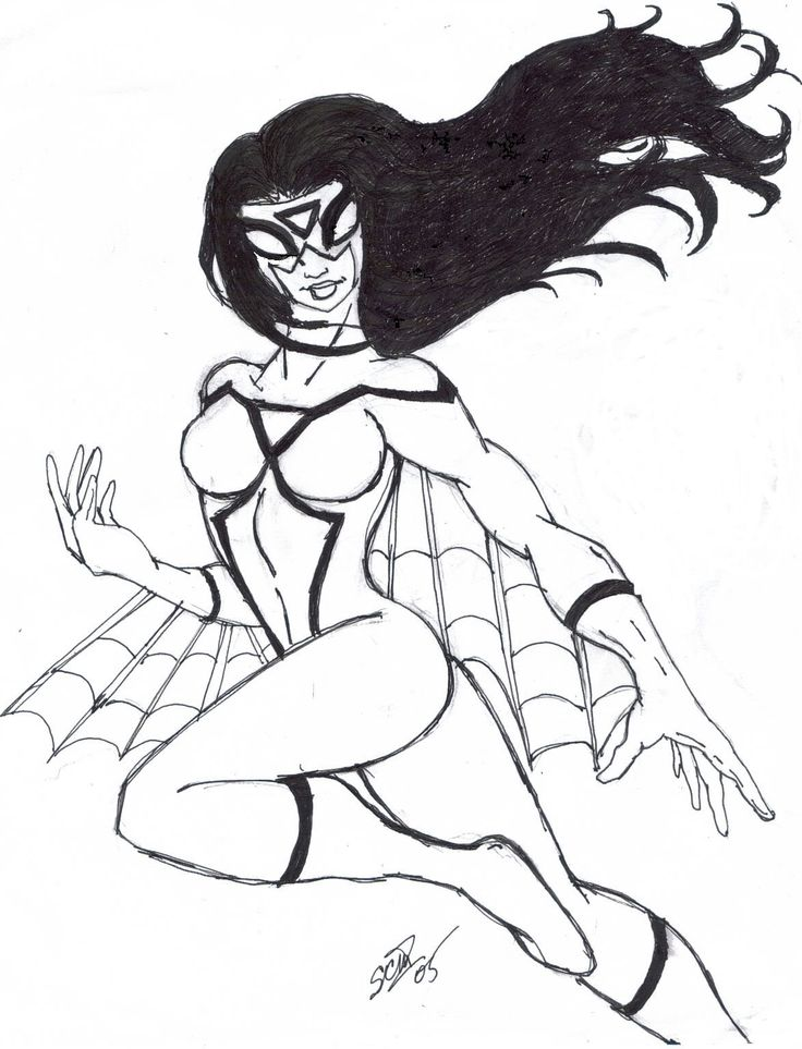 spider girl coloring pages - photo#3