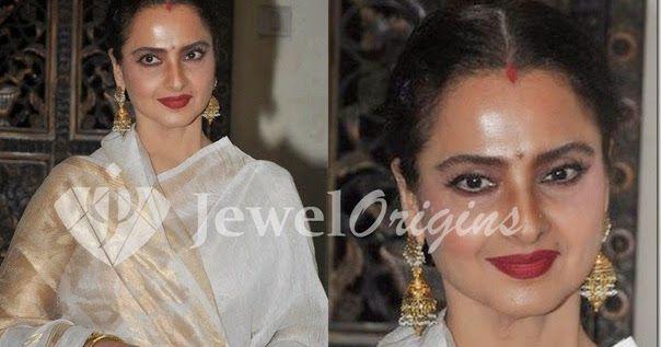 Bollywood actress Rekha with beautiful traditional jewellery at Sanjay Leela Bhansali's party.