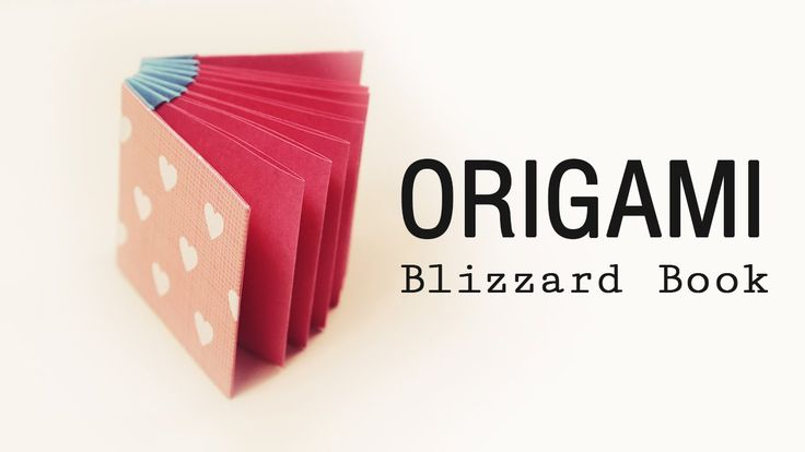 A pretty and practical 'Blizzard' style book project. Difficulty: ★ ★ ★ ☆☆ (Medium) This book is perfect for a gift, you could even make one bigger by doubli...