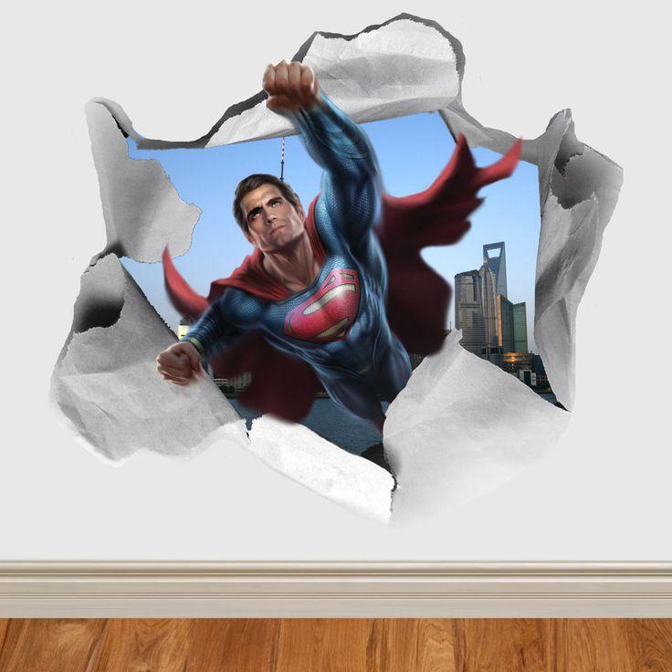 Batman V Superman Paper Rip Wall Sticker Wall Vinyl