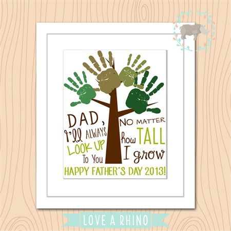 father's day tree handprints 2014