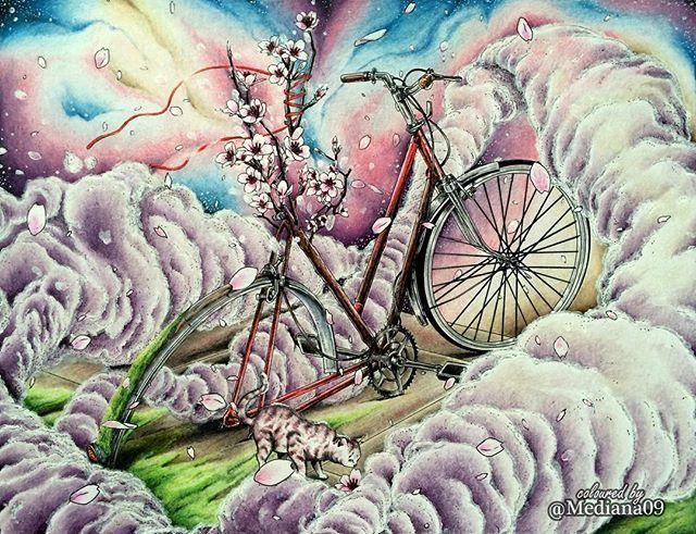 А вот и мой вариант велосипеда для марафона #letscoloritmarathon Очень хотелось передать красоту цветения сакуры!!🌺🌺🌺 #coloringbooks #coloringforadults #coloring #раскраска #раскраскадлявзрослых #раскраскаантистресс #målarbok #大人の塗り絵 #塗り絵 #おとなの塗り絵 #コロリアージュ #컬러링북 #컬러링 #artecomoterapia #boracolorirtop #colorindolivrostop #coloring_secrets #bayan_boyan #beautifulcoloring #shanjiang #вокругсветанавелосипеде #шаньцзян #thebicyclecoloringbook #миф_раскраски #mifbooks #dayanajey