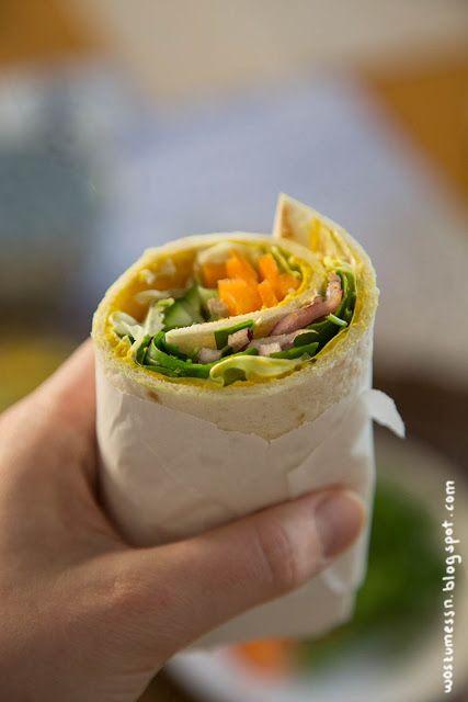 Easy Veggie To Go: Wraps mit Curry-Hummus | Wos zum Essn Blog