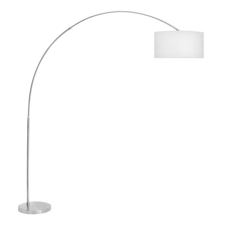 LumiSource Salon Brushed Metal Contemporary Arch Floor Lamp