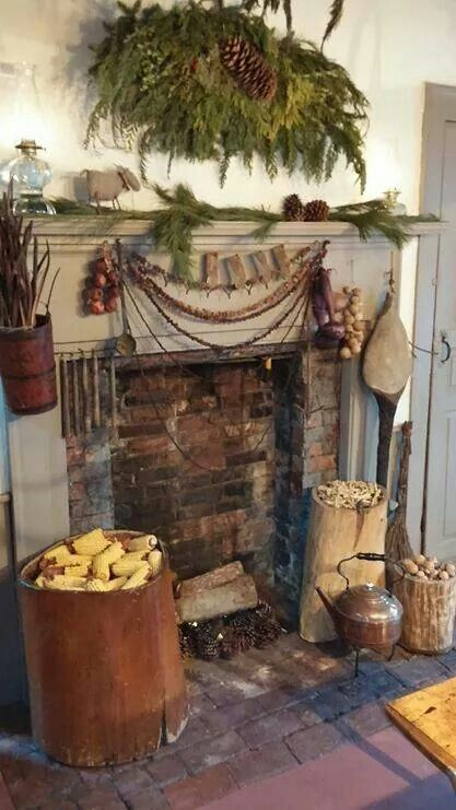 25 best ideas about primitive fireplace on pinterest