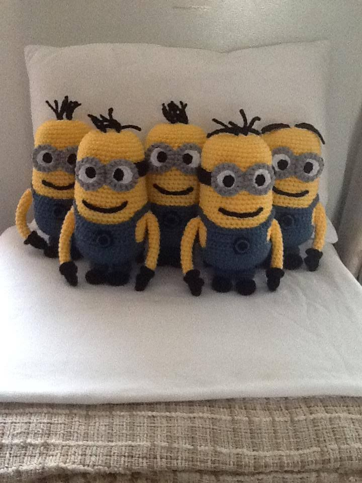 Handmade Minion Dolls from Despicable Me. Buy them here - https://www.facebook.com/CBKnits