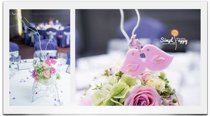Bridal Lovebirds Centerpiece