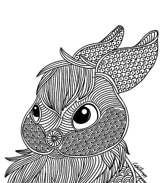 211 Best Coloring Rabbit Images On Pinterest