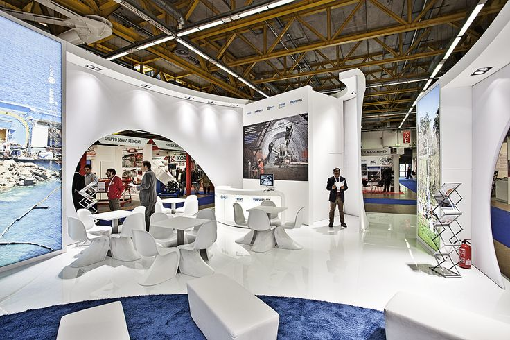 Trevi Group - Expotunnel Bologna #architecture #fabric #design #stand #retail #temporary #fair #booth #structure #white #sustainability