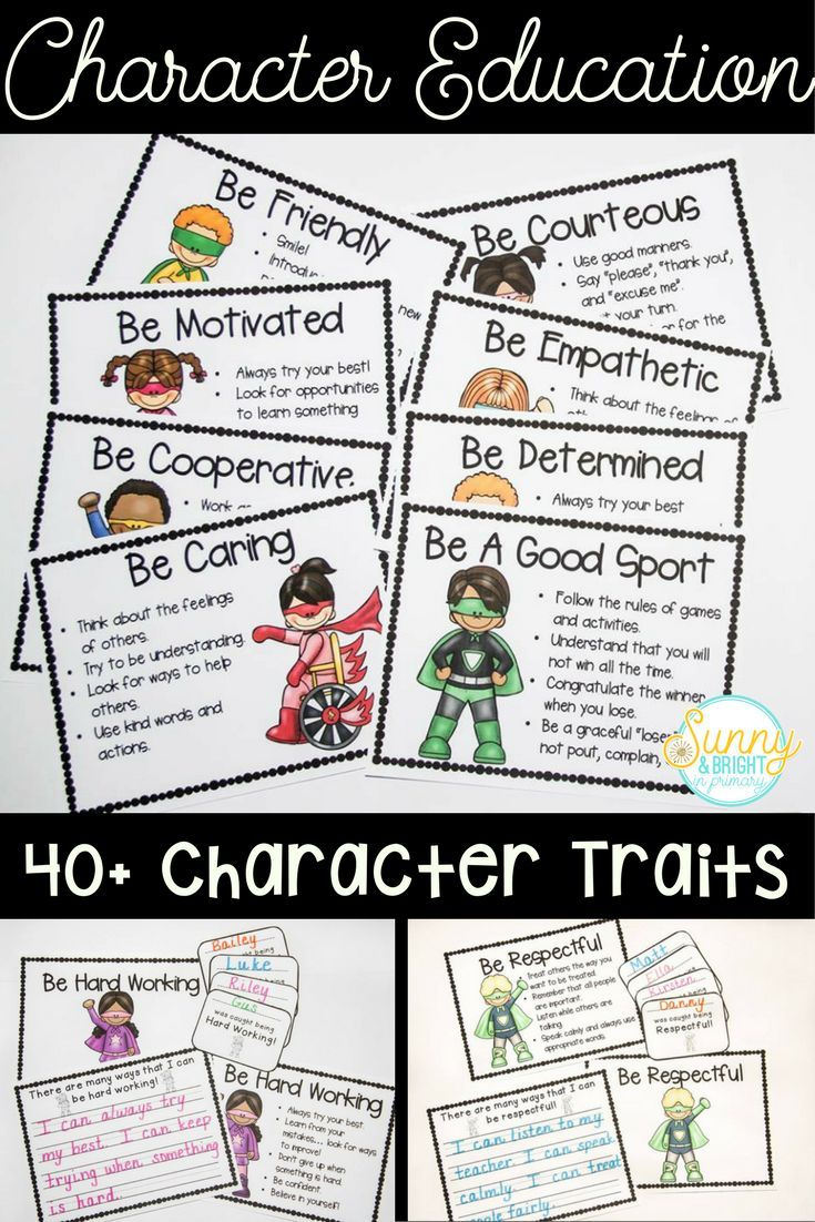 "Great superhero themed character trait posters & awards! There are over 40 character traits included. You can introduce a new character trait each week! ""Super"" cute character education set! ($)"