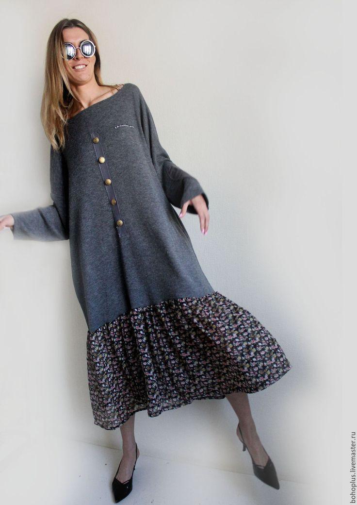 """Crazy maxi dress / Купить Платье в бохо стиле """"Датская девчонка3"""" - комбинированный, цветочный, платье свободного кроя, бохо"""