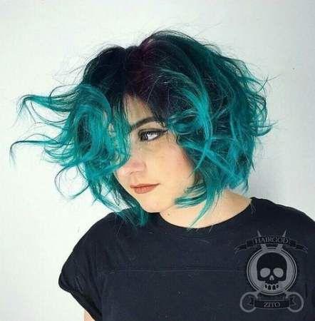 Trendy Hair Short Blue Ombre Bob Hairstyles 64 Ideas Hair