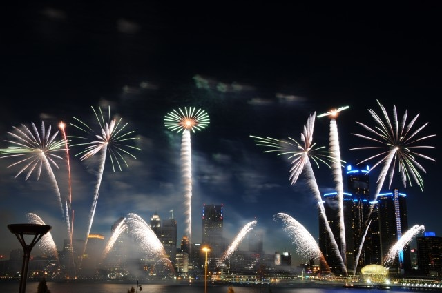 Kalimah Rahman of Detroit shot this spectacular view of the Target Fireworks over the Detroit River. It won 2nd place in The Detroit News' Celebrate Michigan Photo Contest.