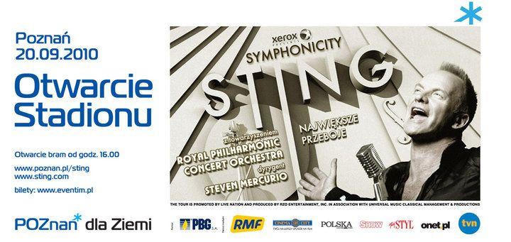 2010 - Cudowny koncert STINGA na otwarcie Stadionu w Poznaniu, byłam przeżyłam polecam...