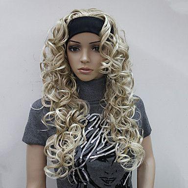 puoli peruukki 3/4 peruukit -pääpannalla pitkät kiharat synteettinen hiukset peruukki naisten 5245745 2017 – hintaan €20.48