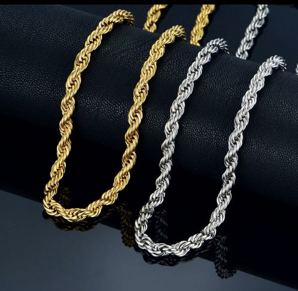 18k Rope Chain Gold Silver Men Women Fashion Jewelry For Sale In Miramar Fl In 2020 Mens Jewelry Long Chain Necklace Fashion Accessories Jewelry