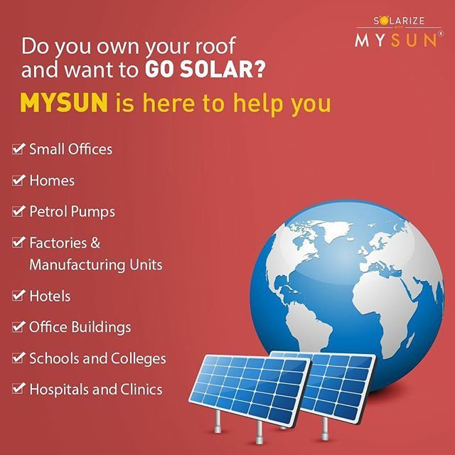 Solar Is The Smart Solution For You To End Your Bill Worries Make Mysun Your Saving Companion Write To Us On Hello I Smart Solutions Solar Solar Power Plant