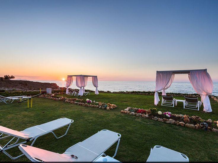 Panormos house rental - Each villa has its own sun beds.