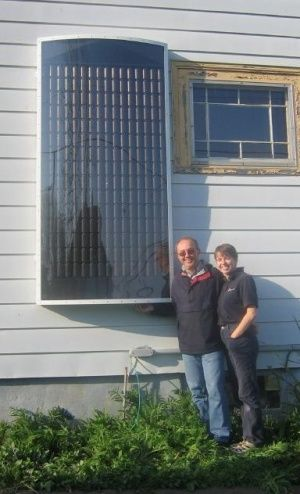 Building a solar panel heater out of aluminum cans - its-a-green-life