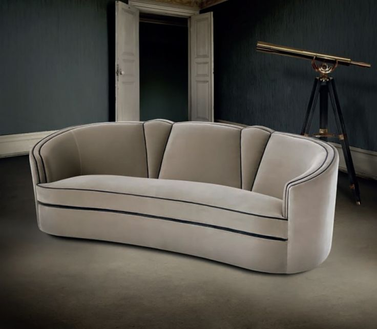 Broyhill Sofa Image detail for Art Deco Style Lounge Shaped Sectioned Backrest Lounges Designer