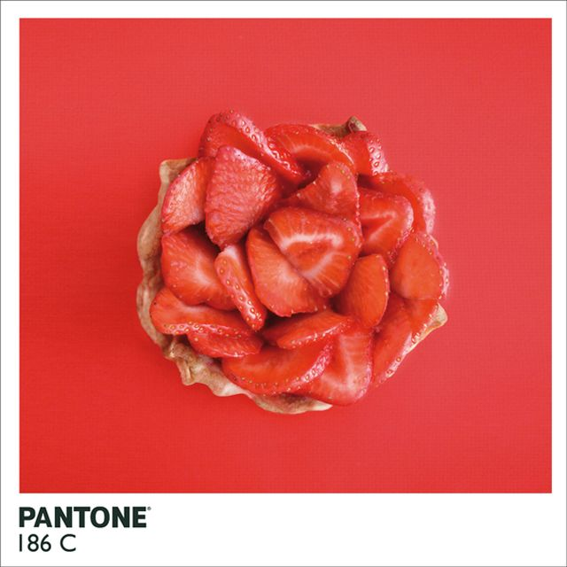 Color fun with ripe, red #strawberries aka #Pantone 186c taken by Emilie Guelpa for Fricote Magazine #photography