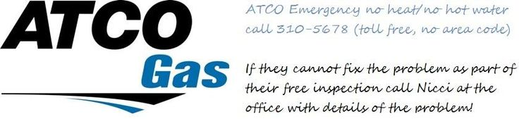 DID YOU KNOW  We wanted to remind you all of some very important info to keep handy!  Now that fall is officially here it is time to get your FREE maintenance inspection with ATCO gas on the gas appliances in your home (furnace, hot water tank, range, etc).  Lethbridge residents call 403-380-5425 Taber & area 403-223-9632  ** If you have no heat/hot water contact ATCO at 310-5678 **  If you are a tenant make sure to notify your landlord agent of any repair concerns on their report!