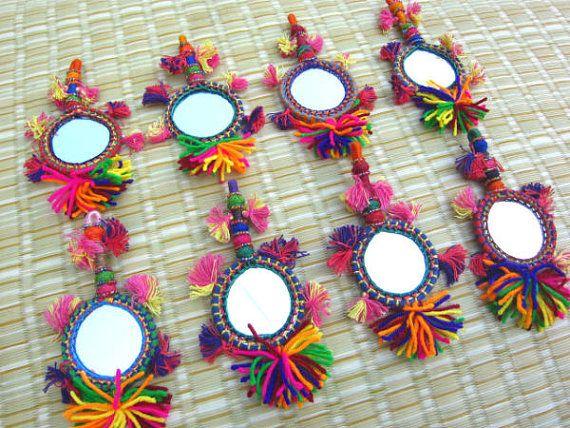 Tassel Mirror Decoration Tassel Decor Supply Handmade Supply Keychain Decorating Supply Tassel Decor Gypsy Accessories Bohemian Fashion