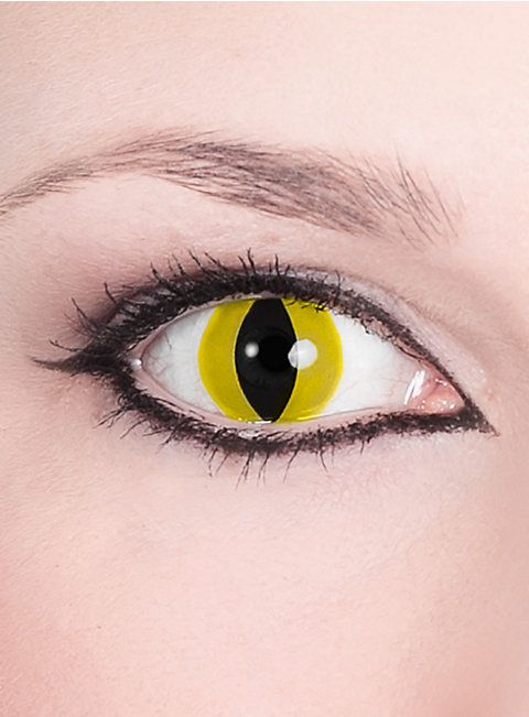 Katzenauge Kontaktlinsen #contactlenses #cat #black #yellow