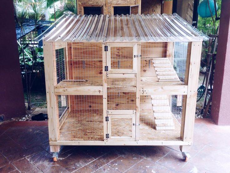 Wooden Pallet Cat House Design | 101 Pallet Ideas