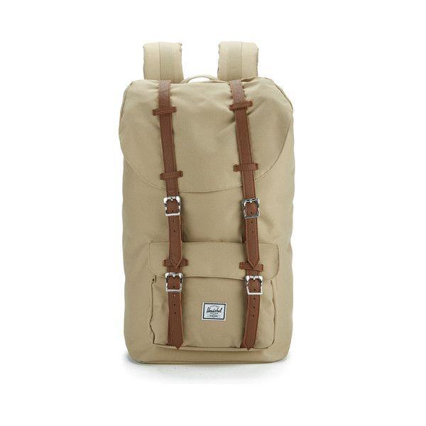 Herschel Supply Co. Little America Backpack ($115) ❤ liked on Polyvore featuring bags, backpacks, herschel rucksack, herschel, padded laptop bag, laptop rucksack and brown laptop backpack
