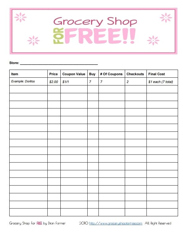 Free Printable Coupon Grocery Shopping List Click Here Http Www Groceryshopfo Printable Coupons Grocery Grocery Shopping Coupons Free Printable Coupons