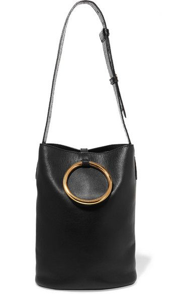 Stella McCartney's 'Bucket' bag has been made in Italy from the label's beautifully supple yet resilient eco-friendly faux leather. Punctuated with a logo-engraved gold hoop, this boho-inspired black style has a faux suede-lined interior with plenty of room for your day-to-day essentials. Adjust the glossy croc-effect shoulder strap to find your perfect drop.