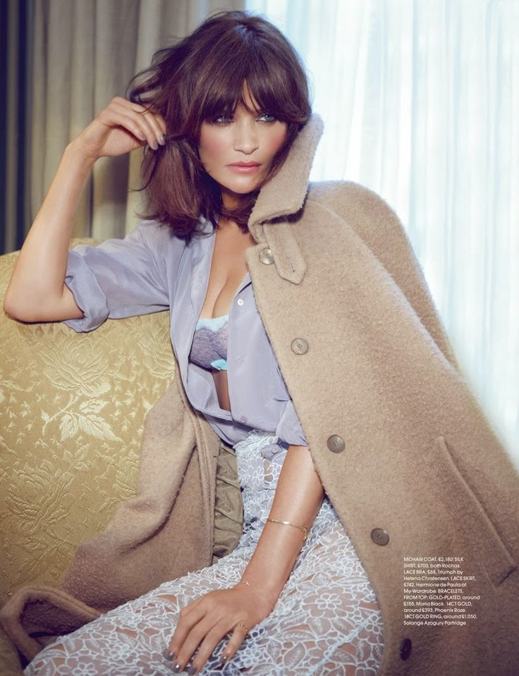 Helena Christensen Great look..