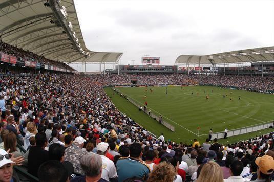 LA Galaxy. soccer team. Landon Donovan plays for them!