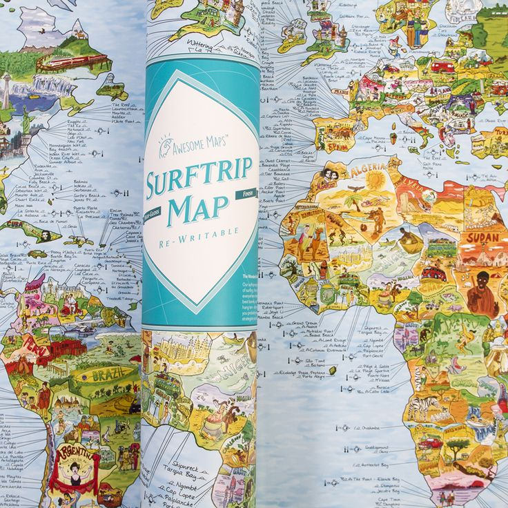 Surf Trip Map #girlzactive #surfmap