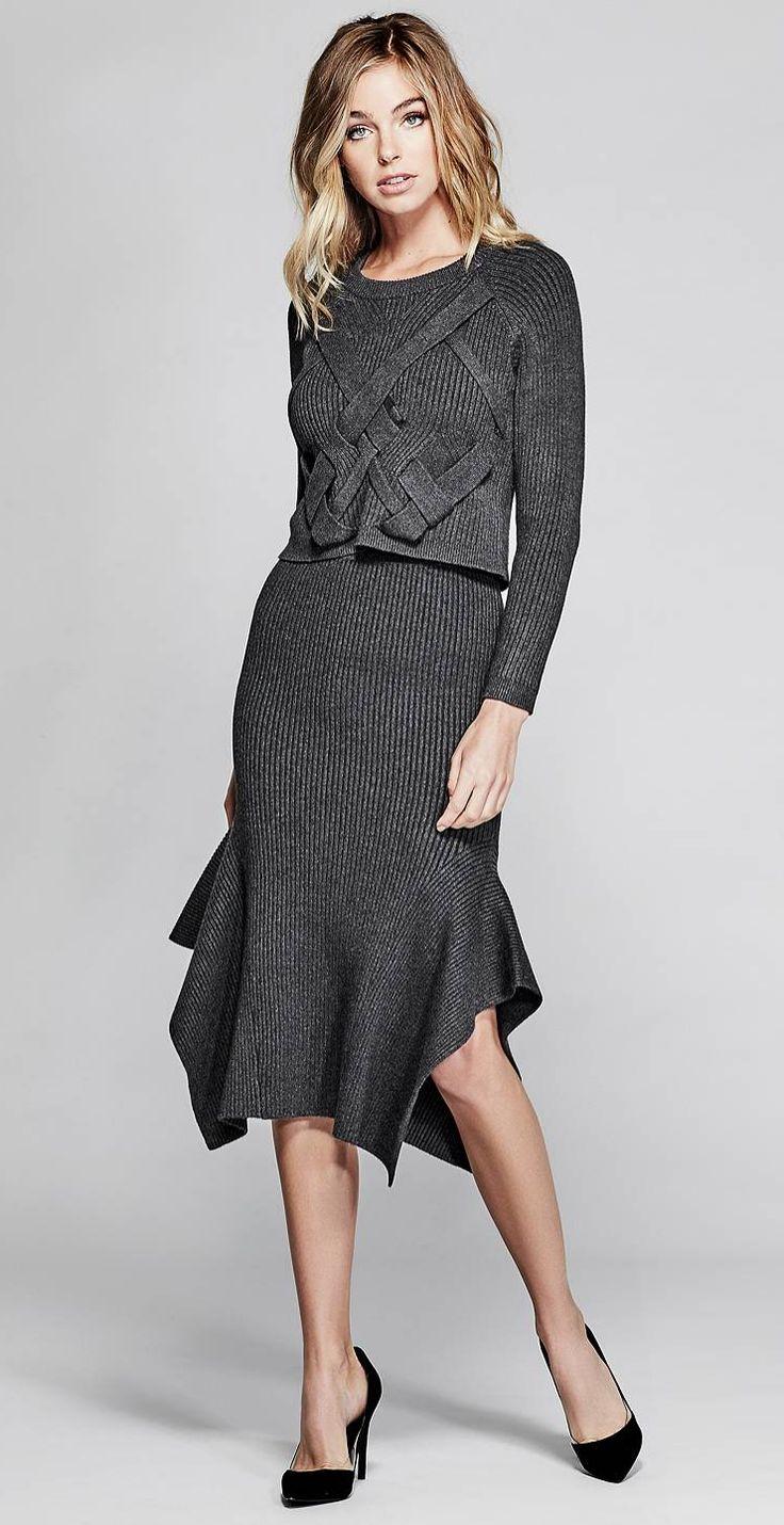 The Ofelia Sweater Midi Skirt | MARCIANO.com
