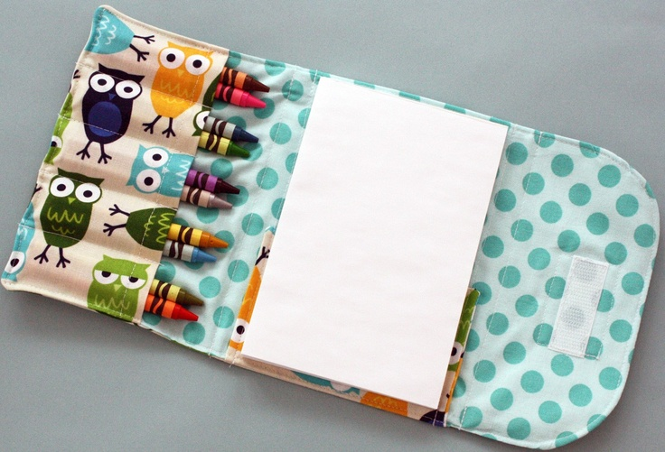 Crayon Wallet - like the velcro idea better than handles...looks more finished