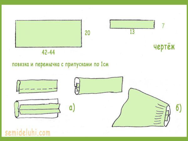 Выкройка повязки на голову-3.4