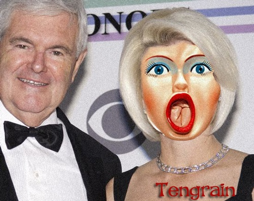 Newt Gingrich and his Scary Wife